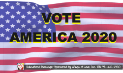 Vote America 2020 Campaign by Wings of Love, Inc.