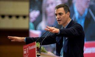 Pedro Sánchez en campaña