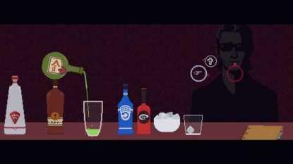 El minijuego de la preparación de bebidas es probablemente el más interesante del Red Strings Club.
