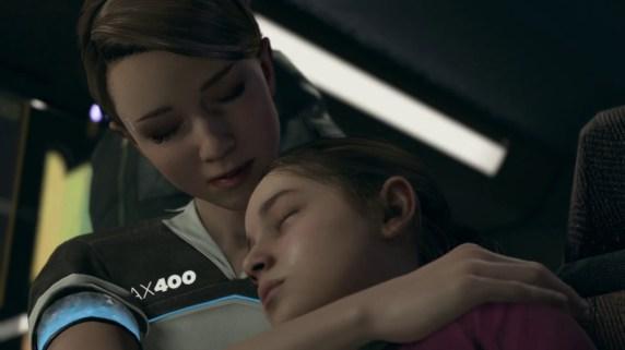 Kara y Alice en una escena juntas en Detroit: Become Human.