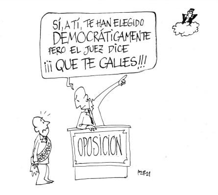 """Oposición mandando callar al gobierno debido a que el juez """"así lo ha dicho"""""""