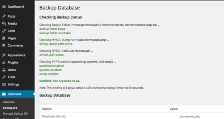 Maintain WordPress Database