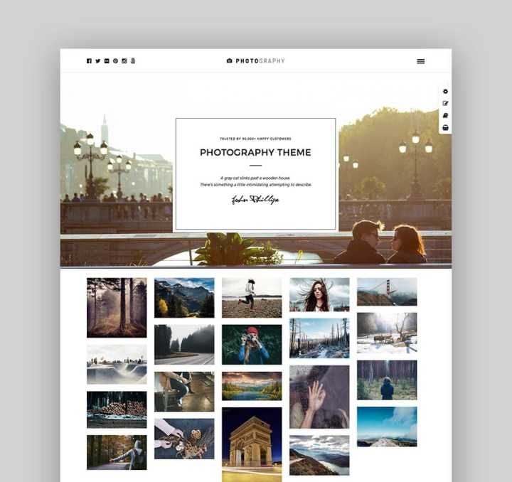 Photography WordPress Portfolio Theme