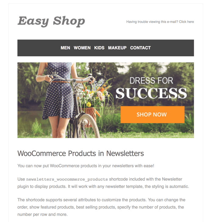 Newsletters - WooCommerce Products in Newsletters - Tribulant