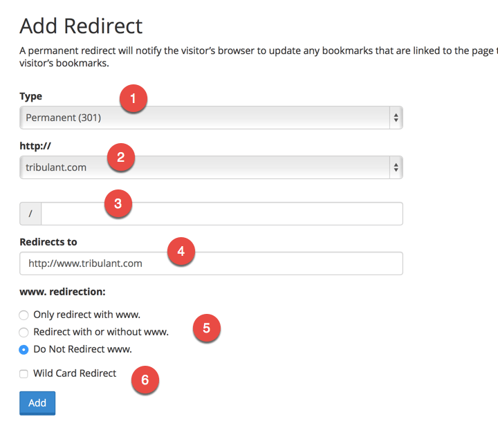 cPanel Redirect From non-www to www