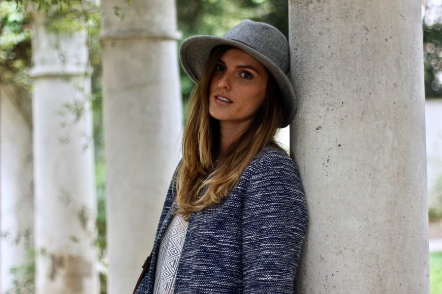 blog mode chapeau gris