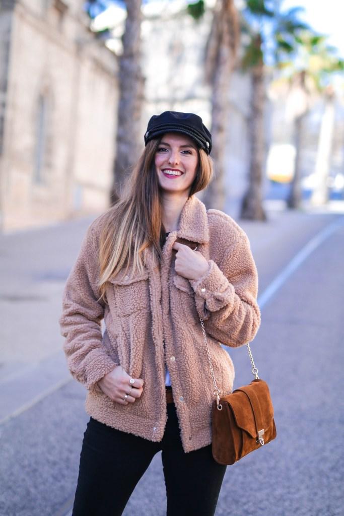 Teddy Coat look blog mode