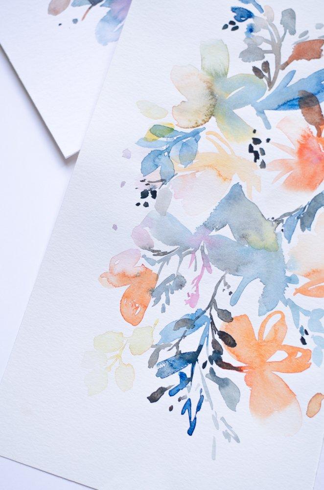 un an aquarelle fleurs watercolors florals-17