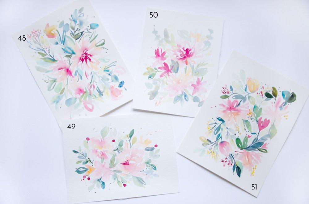 progression fleurs aquarelle tribulations de Marie
