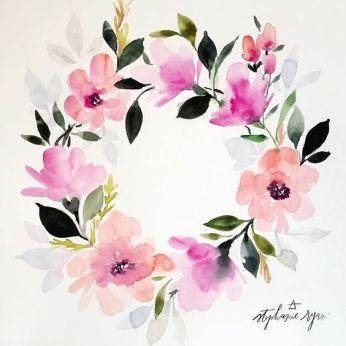 aquarelle inspiration artistes fleurs stephanie ryan