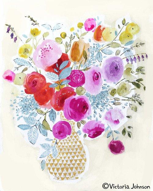 aquarelle inspiration artistes victoria johnson 1