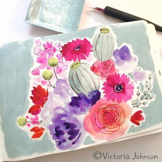 aquarelle inspiration artistes victoria johnson