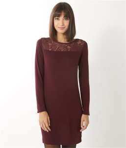 robe bordeaux camaieu