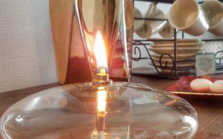 lampe à huille Vessiere Cristaux