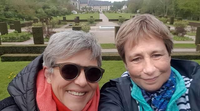 Mireille et moi en Baie de Somme