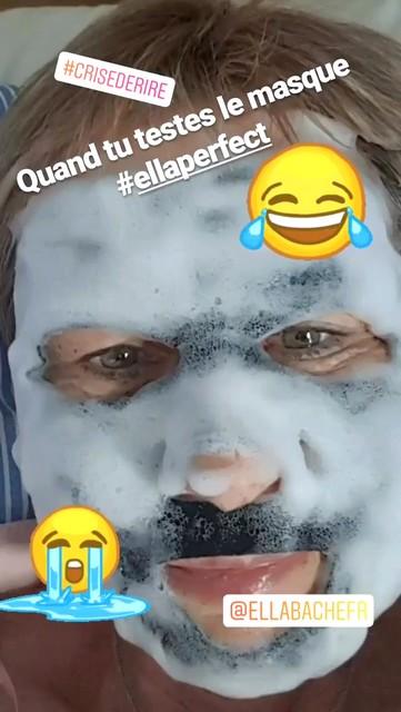 test masque au charbon bulles éclat Ella Baché