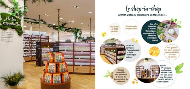 le shop-in-shop Aroma-zone au Printemps Metz