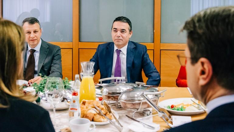 Никола Димитров на работен појадок со амбасадорите на земјите членки на ЕУ