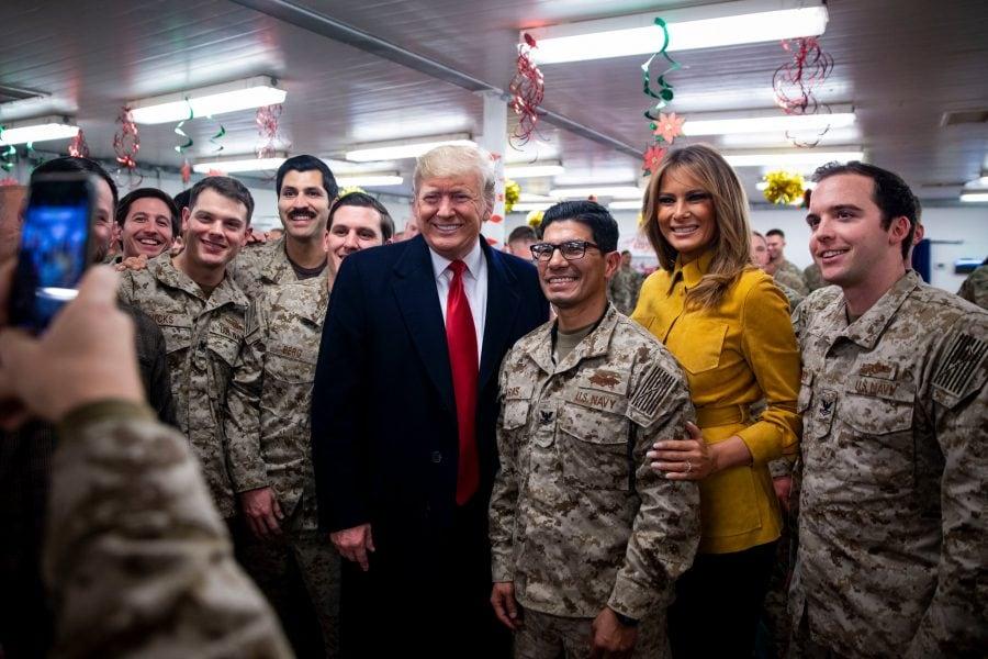 Donald Trump a vizitat trupele americane din Irak