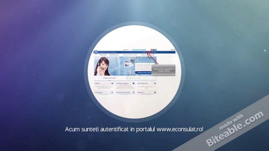 Servicii consulare: Cum mă autentific pe www.econsulat.ro? (Video)
