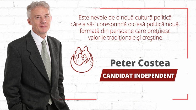 Peter Costea, candidat independent la europarlamentare, și-a înregistrat candidatura