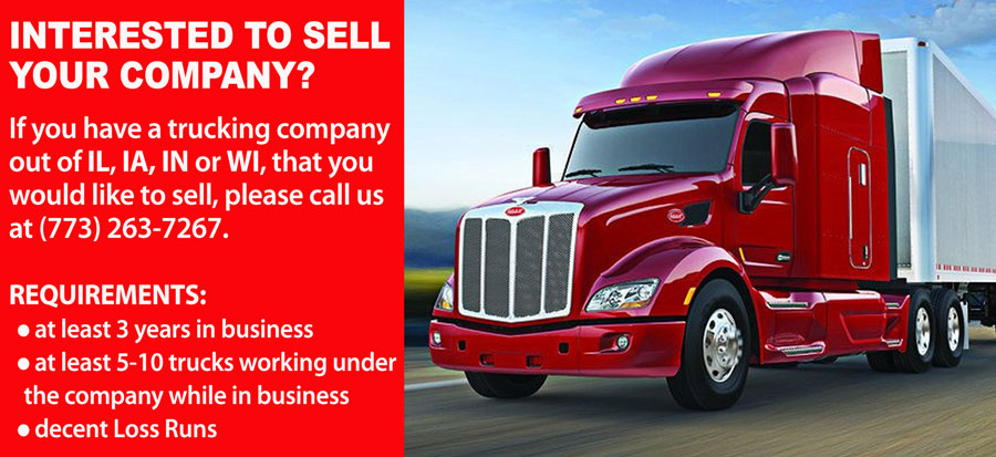 INTERESTED TO SELL YOUR TRUCKING COMPANY?