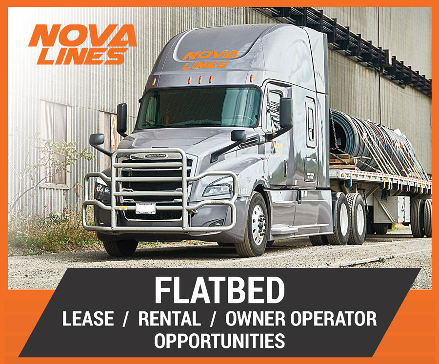 NOVA LINES – FLATBED OPPORTUNITIES – LEASE / RENTAL / OWNER OPERATOR