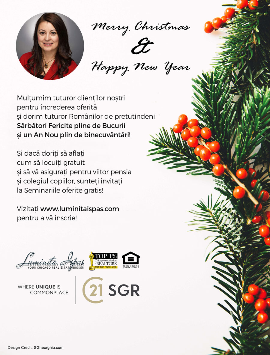 Luminița Ispas: Merry Christmas & Happy New Year!