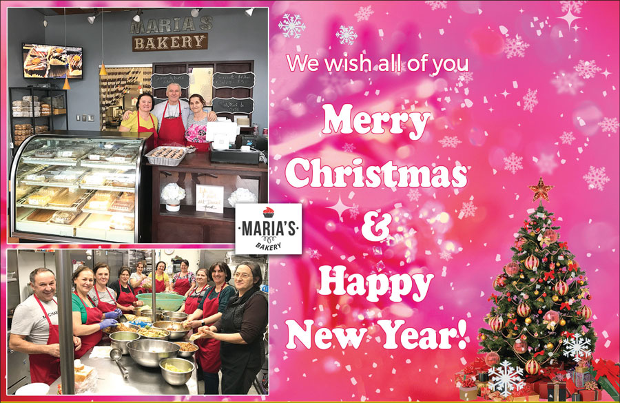 MARIA'S BAKERY: Merry Christmas & Happy New Year!