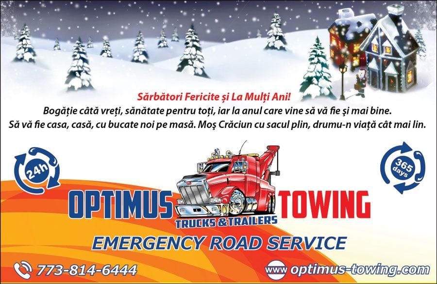 OPTIMUS Towing: Sărbători Fericite și La Mulți Ani!
