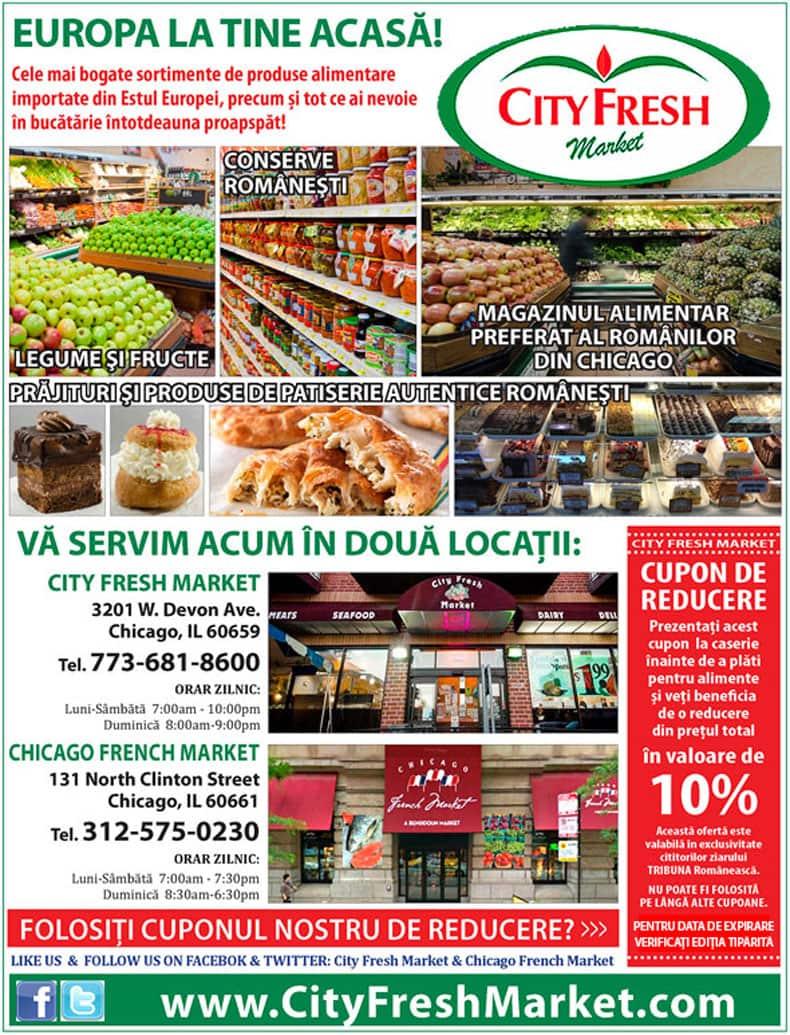 City Fresh Market Chicago – Europa la tine acasă! – Cupon de reducere 10%