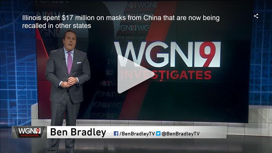 """Statul Illinois a cheltuit 17 milioane de dolari pe măști din China ce sunt """"rechemate"""" în alte state (video)"""
