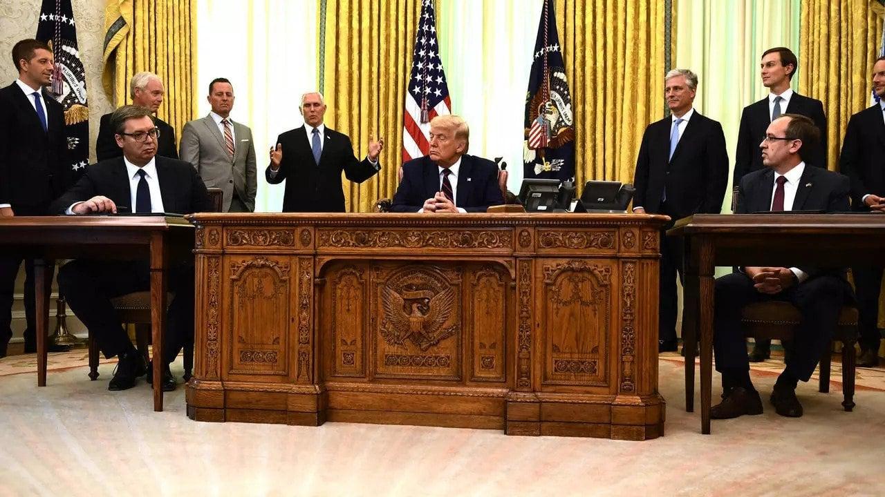 """Trump anunţă că Serbia şi Kosovo au ajuns la un acord asupra unei """"normalizări economice"""""""