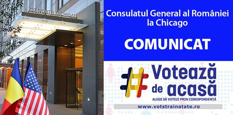 5 și 6 Decembrie 2020 – Alegeri pentru Parlamentul României – Votul prin Corespondență
