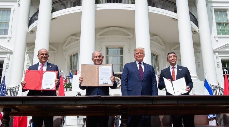 Israel, Emiratele Arabe Unite şi Bahrein semnează la Casa Albă acorduri istorice de pace