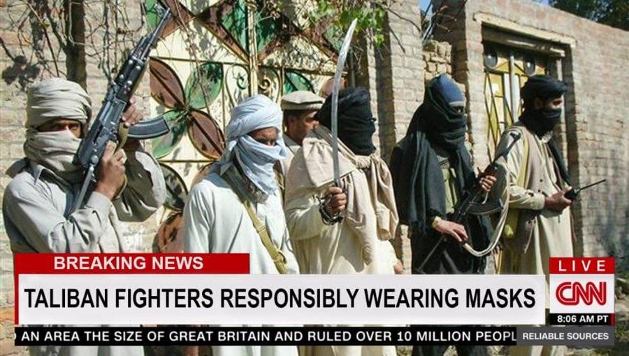 SATIRĂ: CNN laudă talibanii pentru purtarea măștilor în timpul atacului