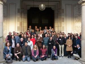 Foto oficial del congrés al Pati Manning de Barcelona