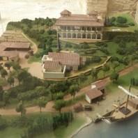 6. Maqueta de la recreació de la vil·la rural de Sant Boi a l'època en què es van construir les termes