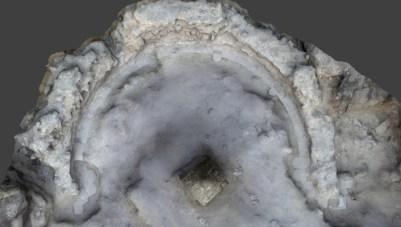 Fotogrametria d'una estructura en forma d'absis.