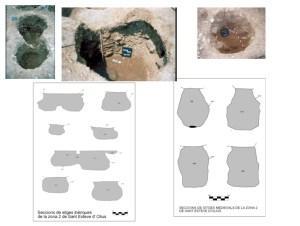 Detall del perfil de les sitges excavades a Sant Esteve (Olius, Solsonès).