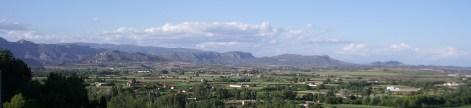 Vista panoràmica de la serra de Monteró, serra Carbonera i Mont-roig