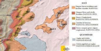 Context geològic del jaciment a partir dels mapes de l'ICC