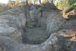 Procés d'excavació de la mina, amb les evidencies d'explotació moderna-contemporània. Campanya 2013