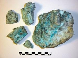 Mostra de mineral fosfatat de la mina