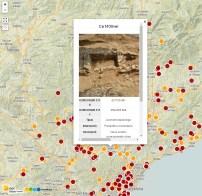 Mapa d'intervencions arqueològiques a Catalunya