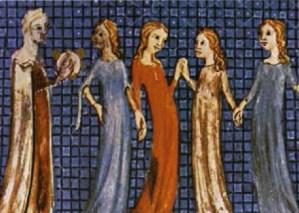 Imatge d'època medieval de dones jueves
