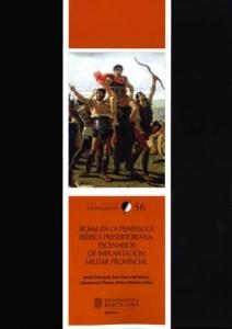 """Portada de les actes: """"Roma en la Península Ibèrica Presertoriana. Escenarios de implantación militar provincial"""""""
