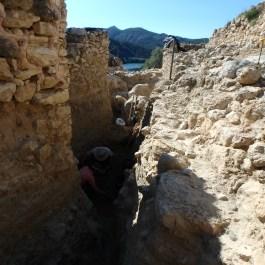 Treballs d'excavació al poblat ibèric de la Roca Roja (Benifallet, Baix Ebre)