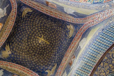 Detall de mosaic de la tomba de Gal·la Placídia a Ravenna