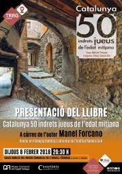 """Cartell de la publicació: """"Catalunya 50 indrets jueus de l'edat mitjana"""""""
